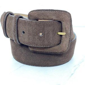 Lands' End Vintage Brown Suede Belt Made in USA 26